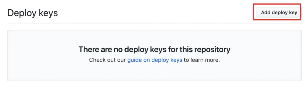 add deploy keyをクリック