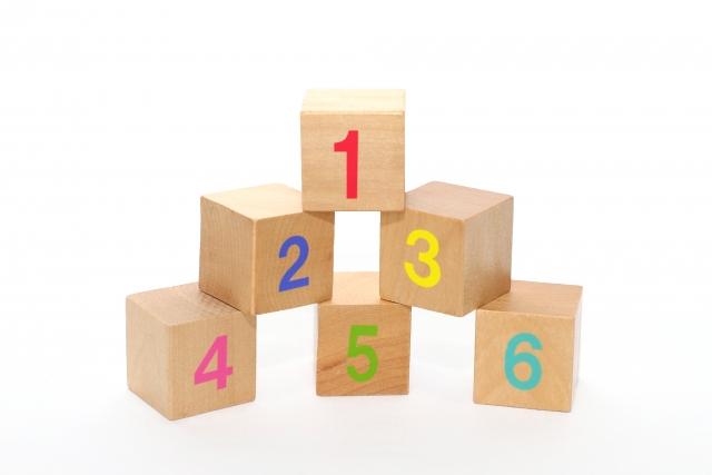 6つの積み木
