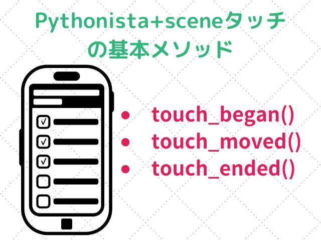 Pythonista+sceneタッチの基本