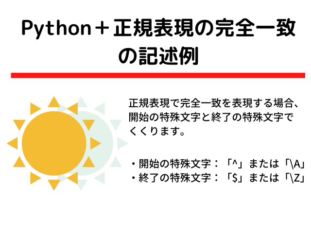 Pythonと正規表現の完全一致