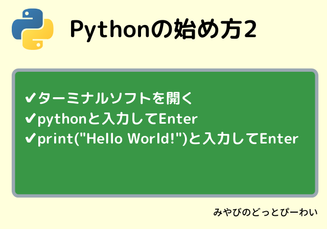 PythonでHello Worldを実行する